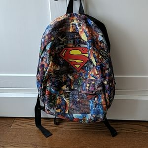 H&M Boys Backpack Superman with Front Zipper